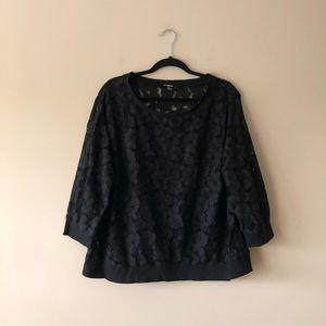 BB Dakota black lace top